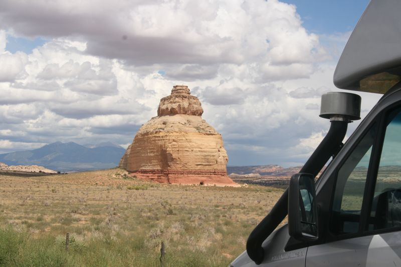 Church Rock in Utah, steht da so am Rande des Highways